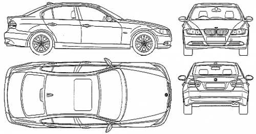 Blueprints > Cars > BMW > BMW 320i Saloon (E90) (2005)