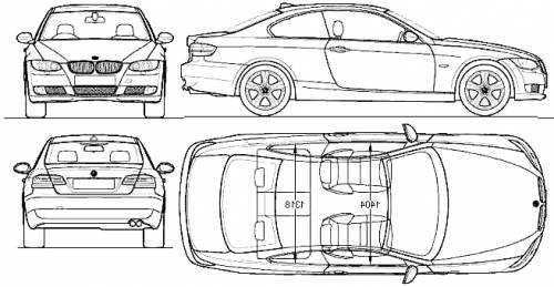 Blueprints > Cars > BMW > BMW 3-Series Coupe (E92) (2009)