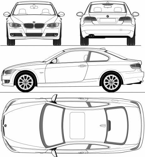 Blueprints > Cars > BMW > BMW 3-Series (E90)