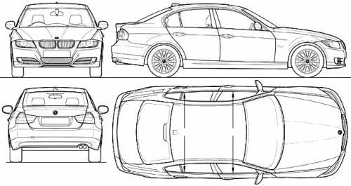 Blueprints > Cars > BMW > BMW 3-Series Sedan (E90) (2009)