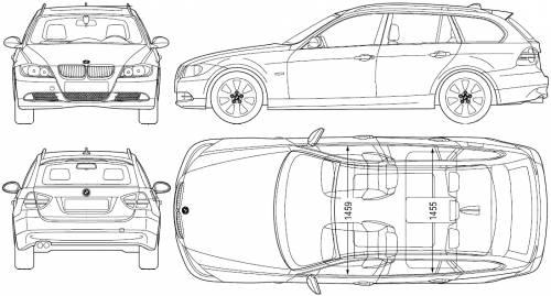 Blueprints > Cars > BMW > BMW 3-Series Touring (E90) (2006)
