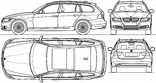 Blueprints > Cars > BMW > BMW 3-Series Touring (E91) (2010)