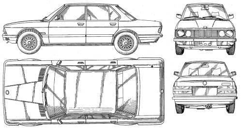 Blueprints > Cars > BMW > BMW 5-Series (E23)