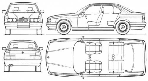 BMW 5-Series Sedan (E34)