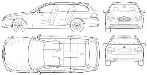 Blueprints > Cars > BMW > BMW 5-Series Touring (E60)