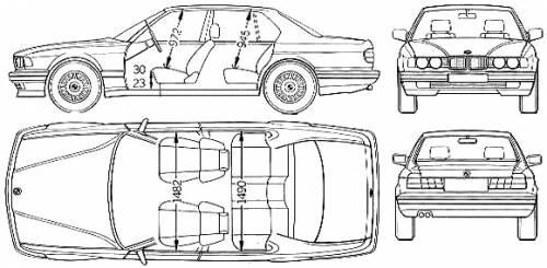 BMW 7-Series (E32) (1994)