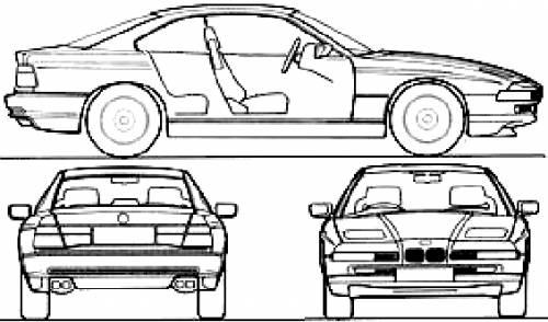 Blueprints > Cars > BMW > BMW 8-Series 850i (E31) (1997)