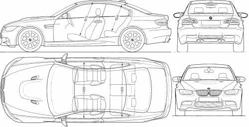 Blueprints > Cars > BMW > BMW M3 (E92)