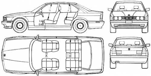 Blueprints > Cars > BMW > BMW M5 (E34) (1991)