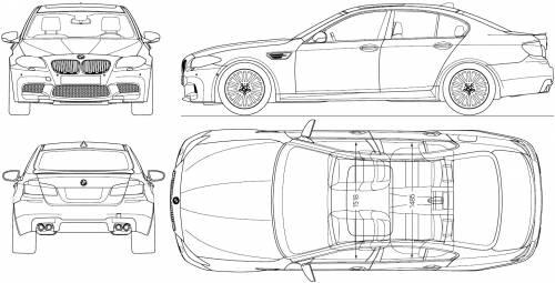 Blueprints > Cars > BMW > BMW M5 (F10) (2011)