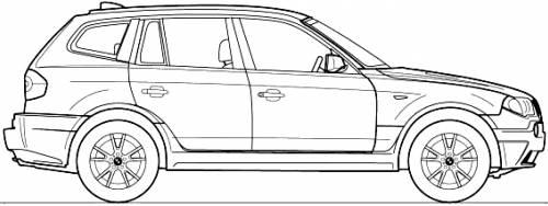 Blueprints > Cars > BMW > BMW X3 (E83) (2004)