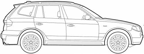 Blueprints > Cars > BMW > BMW X3 (E83) (2009)