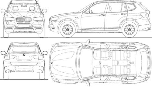 Blueprints > Cars > BMW > BMW X3 (F25) (2010)