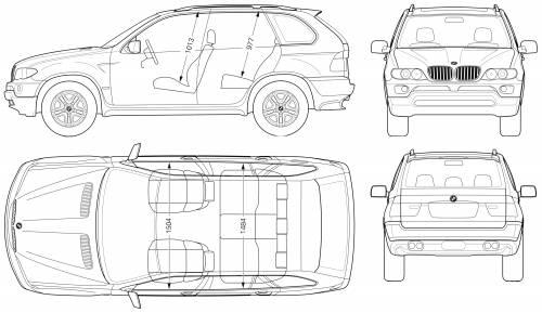 Blueprints > Cars > BMW > BMW X5 (E53)