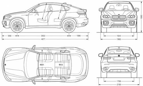 Detalle de mi coche: Dimensiones bmw x6
