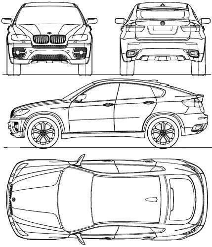Blueprints > Cars > BMW > BMW X6 (E71) (2008)