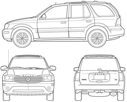 Blueprints > Cars > Buick > Buick Rainier (2005)
