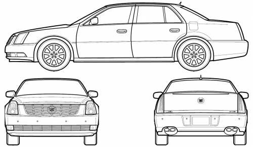 Blueprints > Cars > Cadillac > Cadillac DTS (2006)