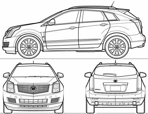 Blueprints > Cars > Cadillac > Cadillac SRX (2010)