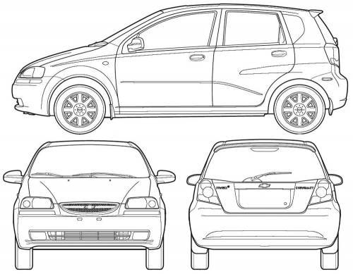Blueprints > Cars > Chevrolet > Chevrolet Aveo (2005)