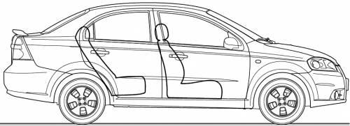 Blueprints > Cars > Chevrolet > Chevrolet Aveo 4-Door (2006)