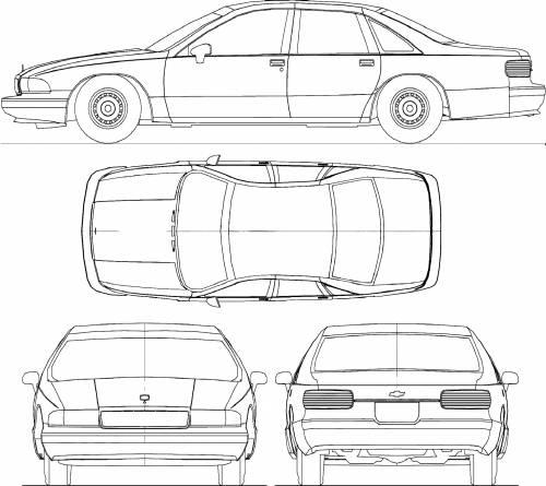 Blueprints > Cars > Chevrolet > Chevrolet Caprice Classic