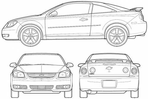 Blueprints > Cars > Chevrolet > Chevrolet Cobalt Coupe (2006)