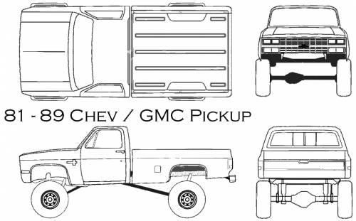 Blueprints > Cars > Chevrolet > Chevrolet-GMC Pickup (1985)
