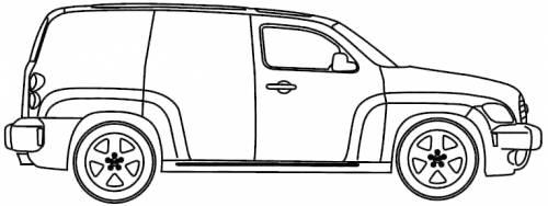 Blueprints > Cars > Chevrolet > Chevrolet HHR Panel (2010)