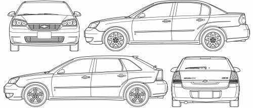 Blueprints > Cars > Chevrolet > Chevrolet Malibu (2007)