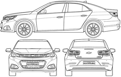 Blueprints > Cars > Chevrolet > Chevrolet Malibu (2015)