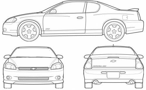 Blueprints > Cars > Chevrolet > Chevrolet Monte Carlo (2007)