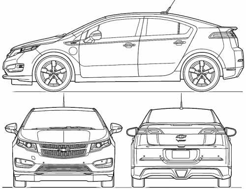 Blueprints > Cars > Chevrolet > Chevrolet Volt (2011)