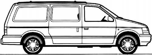 Blueprints > Cars > Chrysler > Chrysler Grand Voyager (1992)