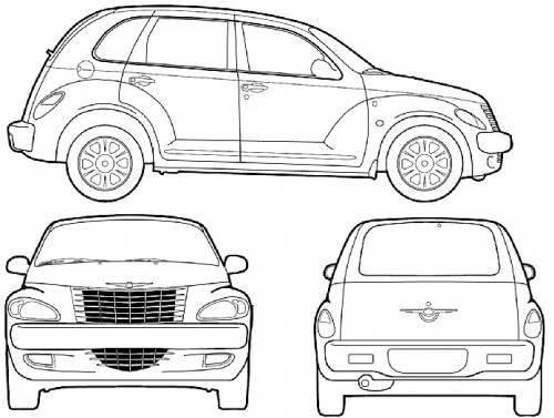 Blueprints > Cars > Chrysler > Chrysler PT Cruiser (2005)