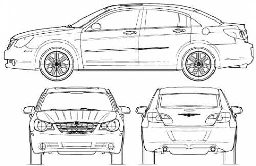 Blueprints > Cars > Chrysler > Chrysler Sebring (2007)