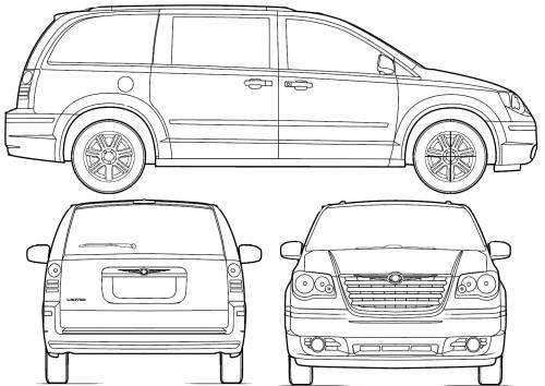 Blueprints > Cars > Chrysler > Chrysler Town & Country (2008)