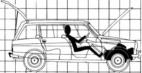 Blueprints > Cars > Citroen > Citroen Ami 8 Break (1970)