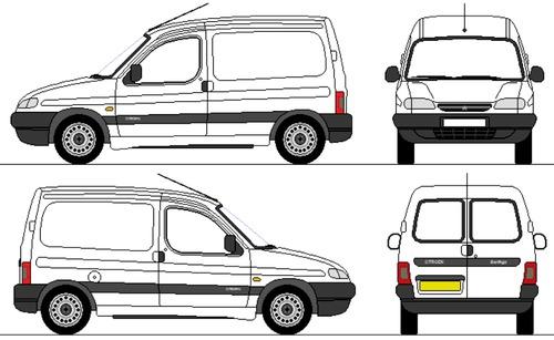 Blueprints > Cars > Citroen > Citroen Berlingo (1997)