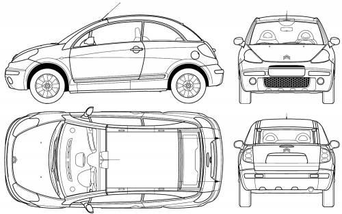 Blueprints > Cars > Citroen > Citroen C3 Pluriel (2005)