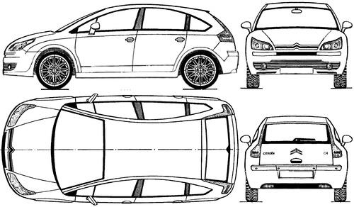 Blueprints > Cars > Citroen > Citroen C4 (2005)