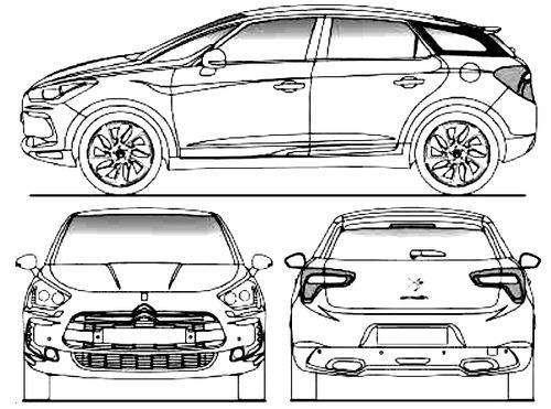 Blueprints > Cars > Citroen > Citroen DS5 (2013)