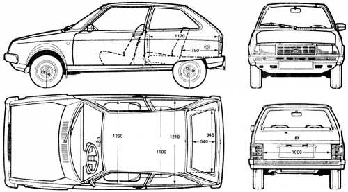 Blueprints > Cars > Citroen > Citroen Visa Club