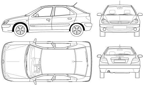 Blueprints > Cars > Citroen > Citroen Xsara Berline (2005)