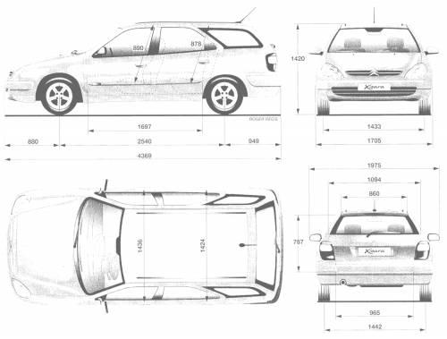 Blueprints > Cars > Citroen > Citroen Xsara Break