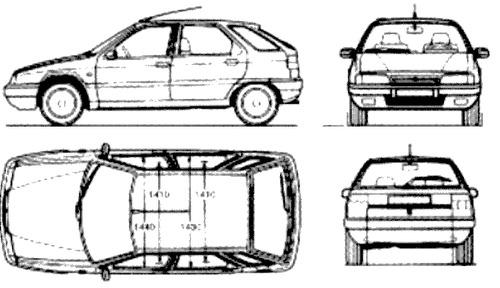 Blueprints > Cars > Citroen > Citroen ZX (1990)