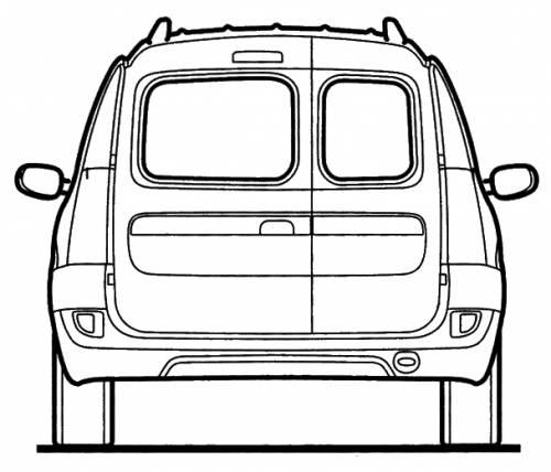 Blueprints > Cars > Dacia > Dacia Logan MCV Rear