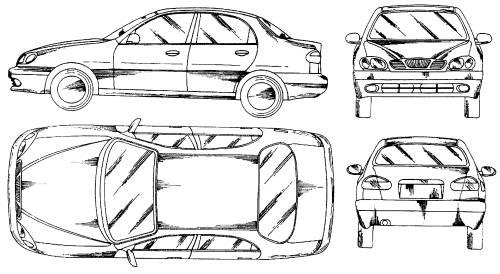 Blueprints > Cars > Daewoo > Daewoo Nubira