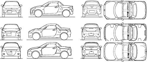 Blueprints > Cars > Daihatsu > Daihatsu Copen (2015)