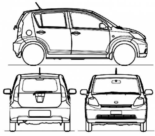 Blueprints > Cars > Daihatsu > Daihatsu Sirion (2010)